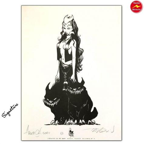 Ex-libris / Tarquin / Arleston / Lanfeust de troy / 9E Art Nancy